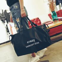 韩版新品字母短途旅行包手提大包单肩包行李袋防水运动瑜伽健身包