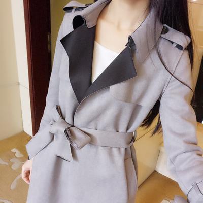 鹿皮绒外套大衣