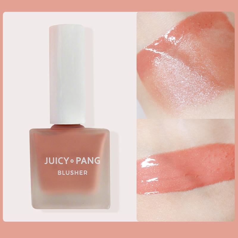 韩国奥普腮红果汁液体裸妆自然修容高光唇颊两用提亮肤色