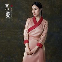 =不染= 锦棉丝光缎西藏藏族衣服女日常藏服装
