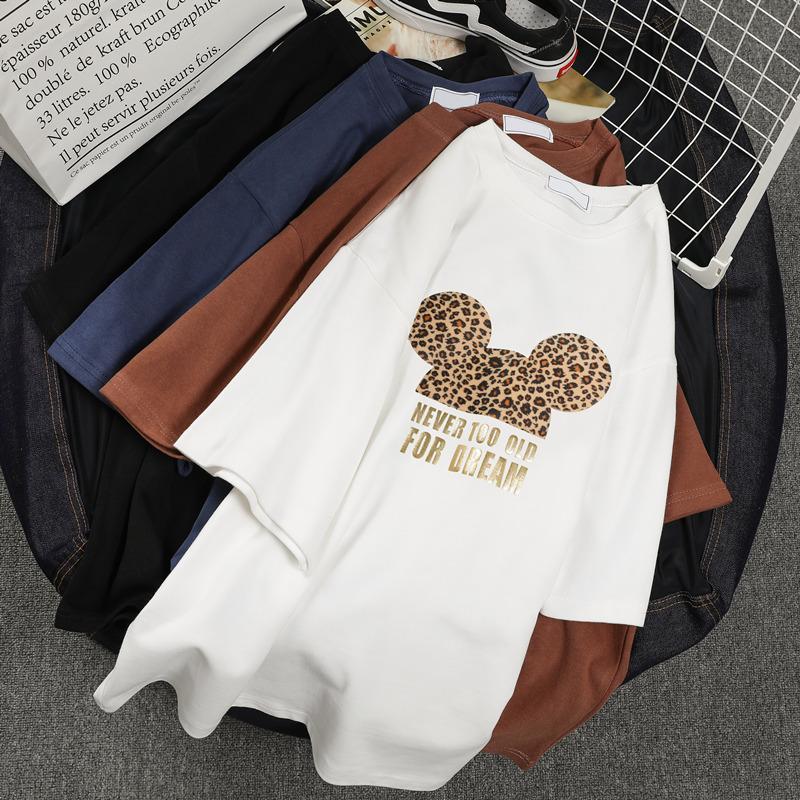 2019新款韩版超火cec短袖t恤女宽松百搭学生ins白色半袖丅上衣潮
