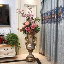 欧式落地大花瓶 仿真花艺套装 客厅装饰摆件美式家居饰品插花摆设