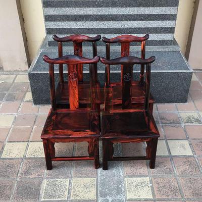 红木家具 老挝大红酸枝小凳子 缅甸花梨小矮凳 四方凳 小靠背椅子