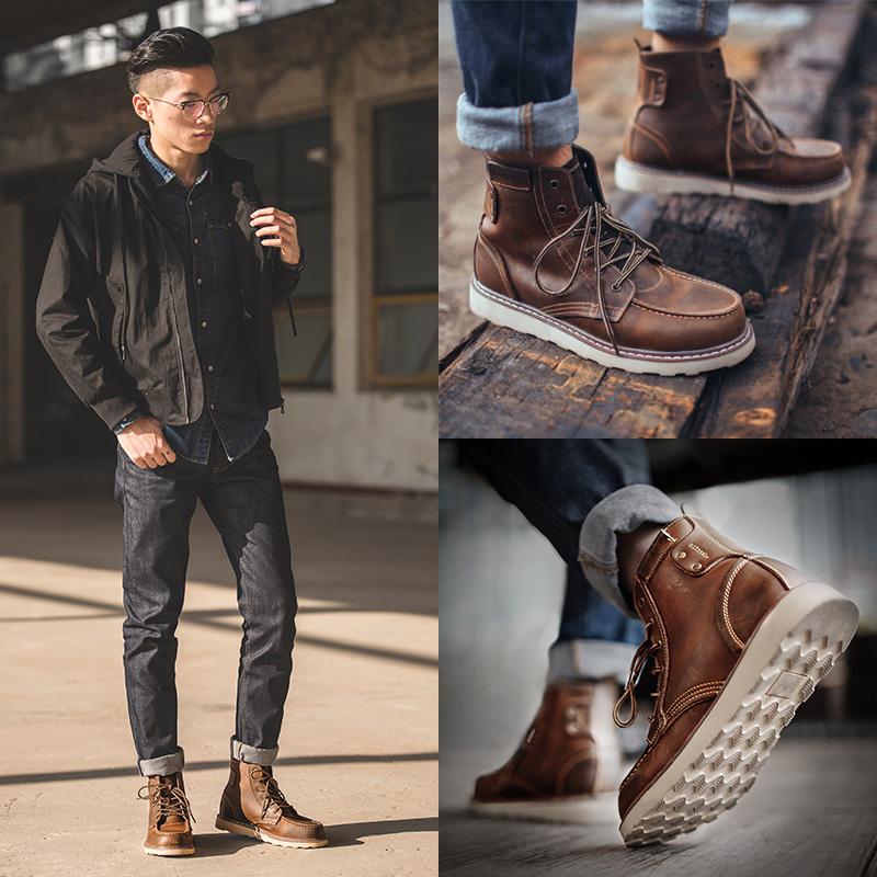 男士加绒棉短靴