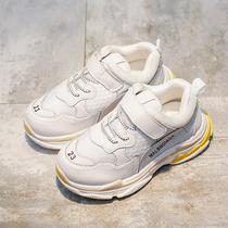 男童旅游鞋中大童跑步鞋蹲秋季新款儿童网面透气运动鞋
