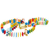 Germany Hape dominoes creative agency children large wooden blocks baby puzzle toys