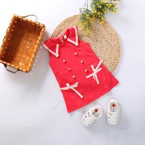 夏款儿童A字裙 英伦 短裙 女童裙子 童装 莱卡棉 弹力裙 宝宝