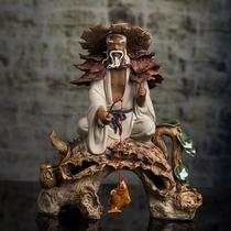 新中式绿色花瓶陶瓷摆件客厅插花现代中式欧式美式玄关家居装饰品