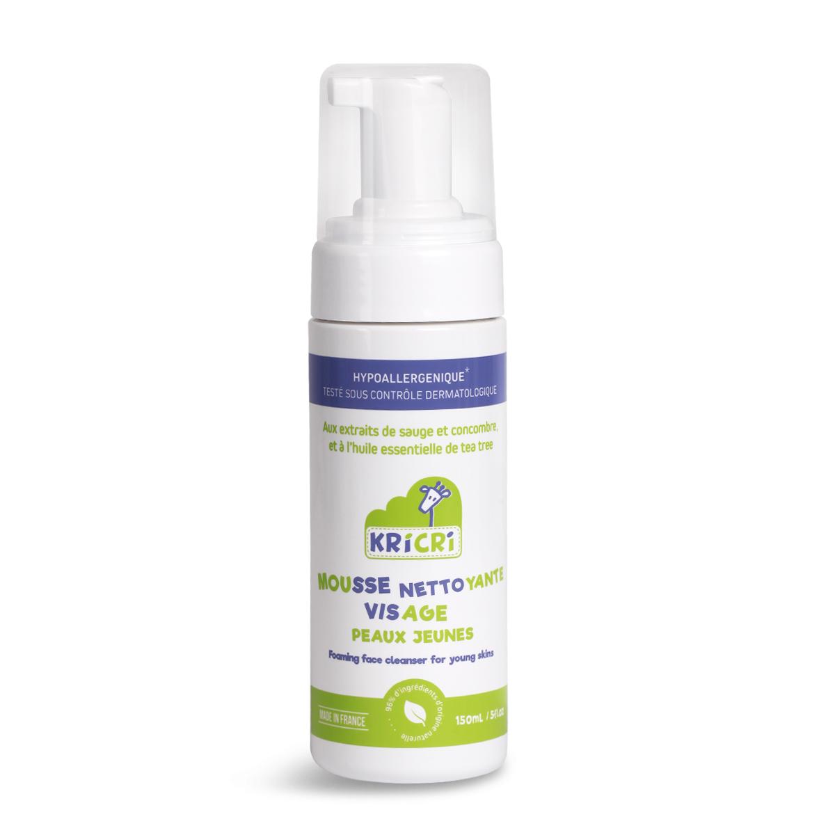 HD法国 KRICRI 儿童深层清洁洁面乳保湿天然清洁控油洗面奶150ml