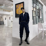 Retro overalls, pants, ins, relaxed hip-hop casual overalls, a suit for male fashion students