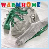 Dinosaur pattern set 2019 spring and autumn new boy hair ring guard clothing children's jacket European and American crocodile cartoon tide