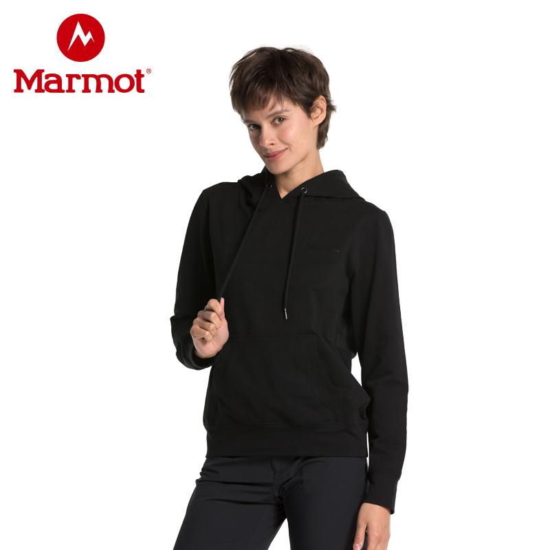 marmot土拨鼠2019新款夏季卫衣户外弹力宽松带帽男女情侣套头连帽