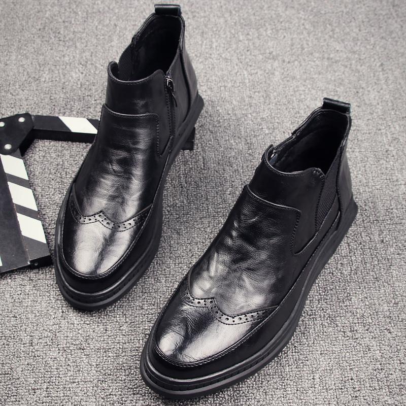 布洛克高帮鞋