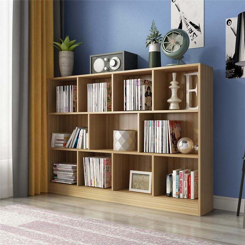 简约现代创意书架书柜自由组合简易书橱客厅置物落地柜子格子柜