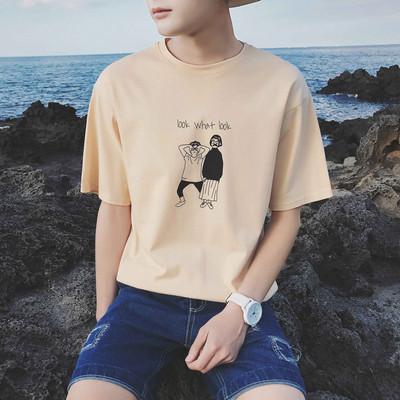 青少年短袖t恤韩版修身体恤潮流男装9.9元特价清仓九块九衣服夏装