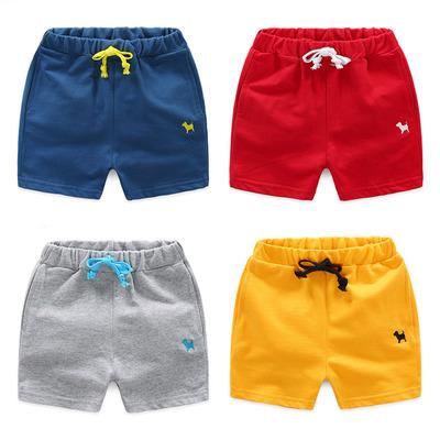 宝宝短裤 2018夏装韩版新款男童女童童装儿童休闲运动短裤kz-9939