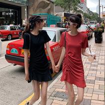大码女装显瘦连衣裙减龄2019夏装新款胖妹妹mm洋气荷叶边裙子遮肚