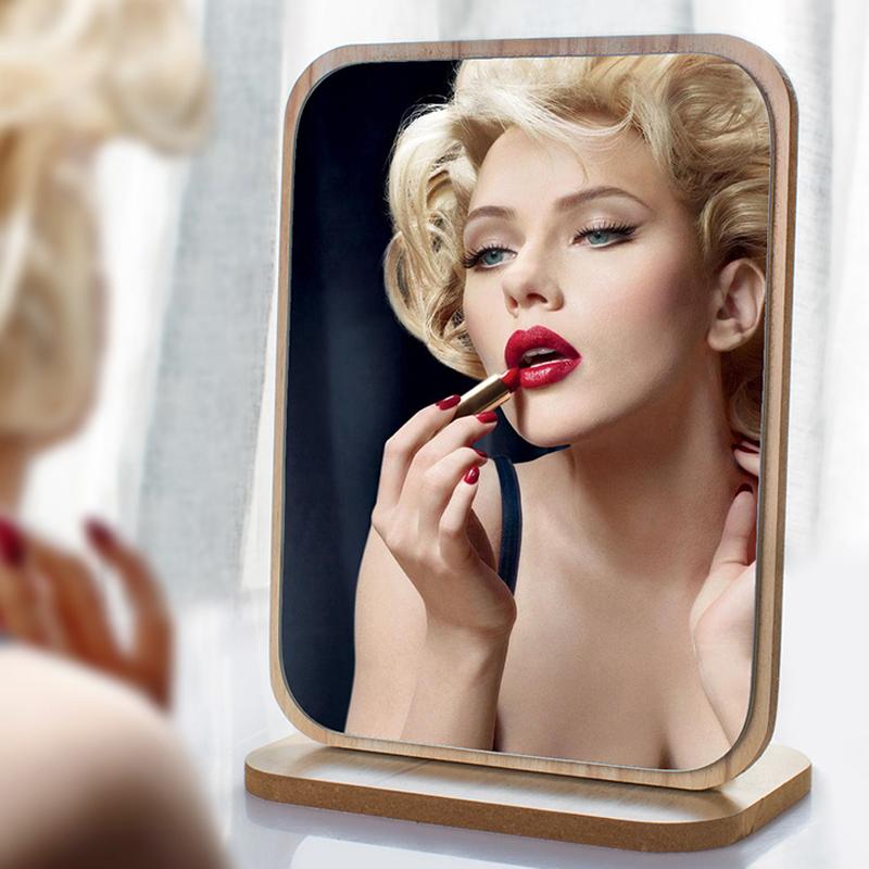 镜子化妆镜公主镜木质