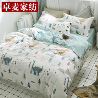 纯棉四件套全棉被套三件套床单床笠床上用品被罩1.5m简约1.8米床