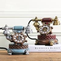 欧式创意复古小摆件电话机模型客厅卧室家居酒柜电视柜装饰品摆设