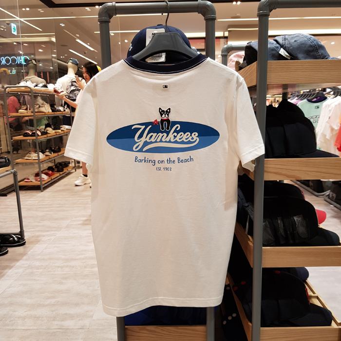 韩国5月新款MLB正品T恤男女通用短袖上衣情侣半袖ins潮31TSTM