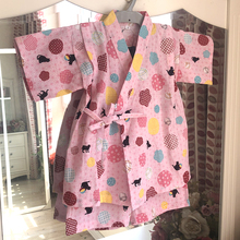 Japanese Very Pin Cotton Children's and Girls'Home Suits, Nightwear Party Show Clothes, Pollen Ball Cat