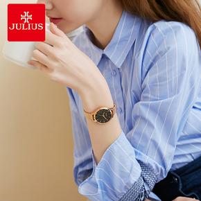 聚时利原装正品女手表防水时尚款女2018新款商务玫瑰金水钻石英表