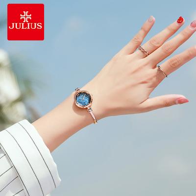 聚利時手表女性手表鏈小巧時尚簡約鋼帶手鐲式潮流防水鉆手鏈女表