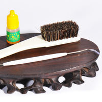Wenwan Tools Vajra Bodhi Walnut Olive Kernel Maintenance Cleaning Boar Bristle Brush Set