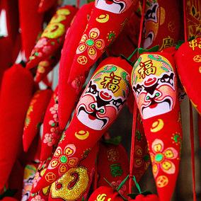 红辣椒串挂件挂串新年装饰用品过年场景布置2019春节挂饰红红火火