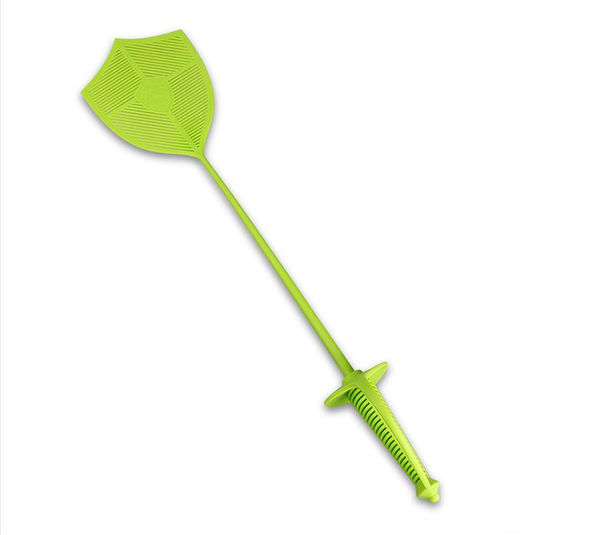 (2个装)击剑造型苍蝇拍创意宝剑个性西洋剑塑料灭蚊拍蓝绿色两个