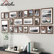 客厅实木照片墙装饰相框墙挂墙创意个性组合卧室相片背景墙相册框