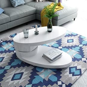 迷你茶几简约现代小户型家具椭圆形创意客厅省空间小桌子餐桌两用