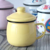 蓝胖子可爱呆萌胖搪瓷杯咖啡杯小猪奇儿童喝水杯早餐喝牛奶杯子