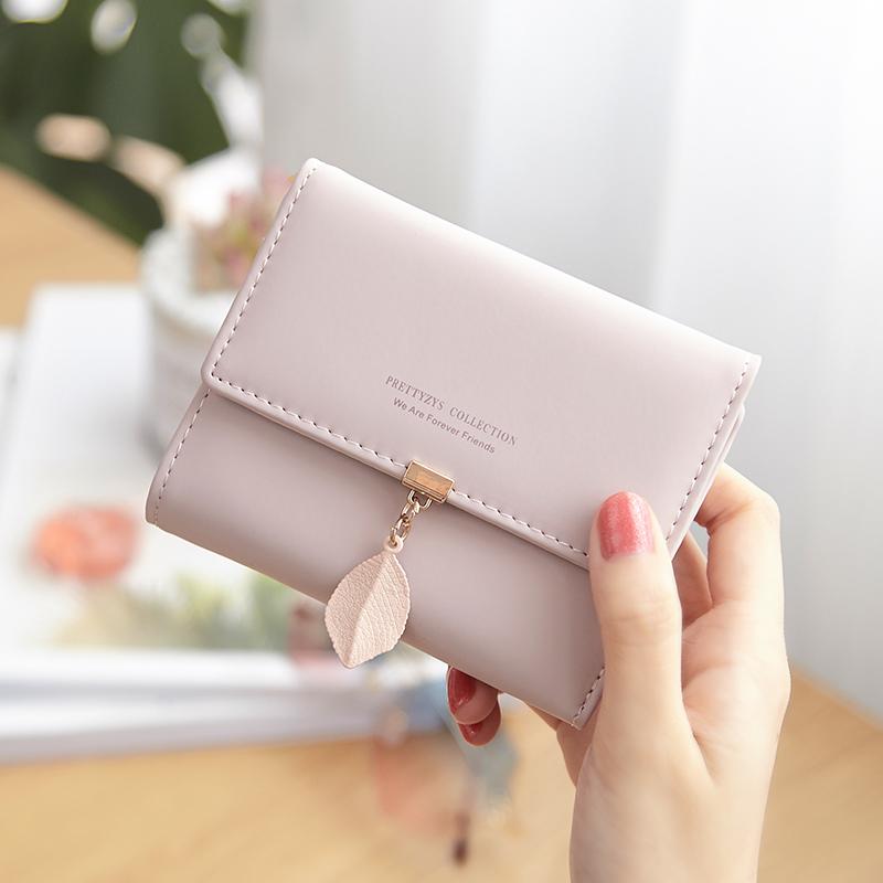 普瑞蒂小清新女士钱包女短款学生可爱韩版三折叠多功能零钱包钱夹图片