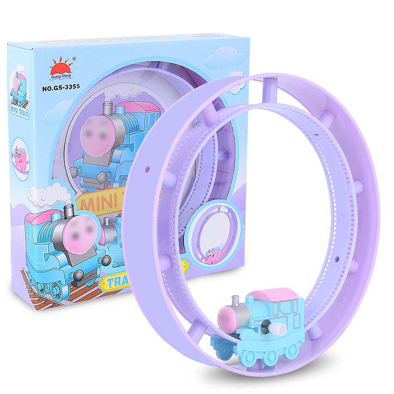 Cartoon on the chain of small mas orbit track children tumbling track toy car puzzle hair
