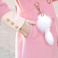 2018冬季新款韩版女装毛呢外套女修身中长款秋冬加厚收腰呢子大衣