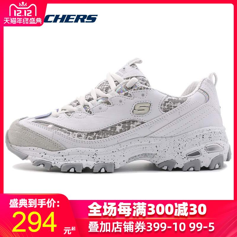 Skechers斯凯奇熊猫鞋女鞋冬季新款厚底增高运动鞋跑步鞋66666054