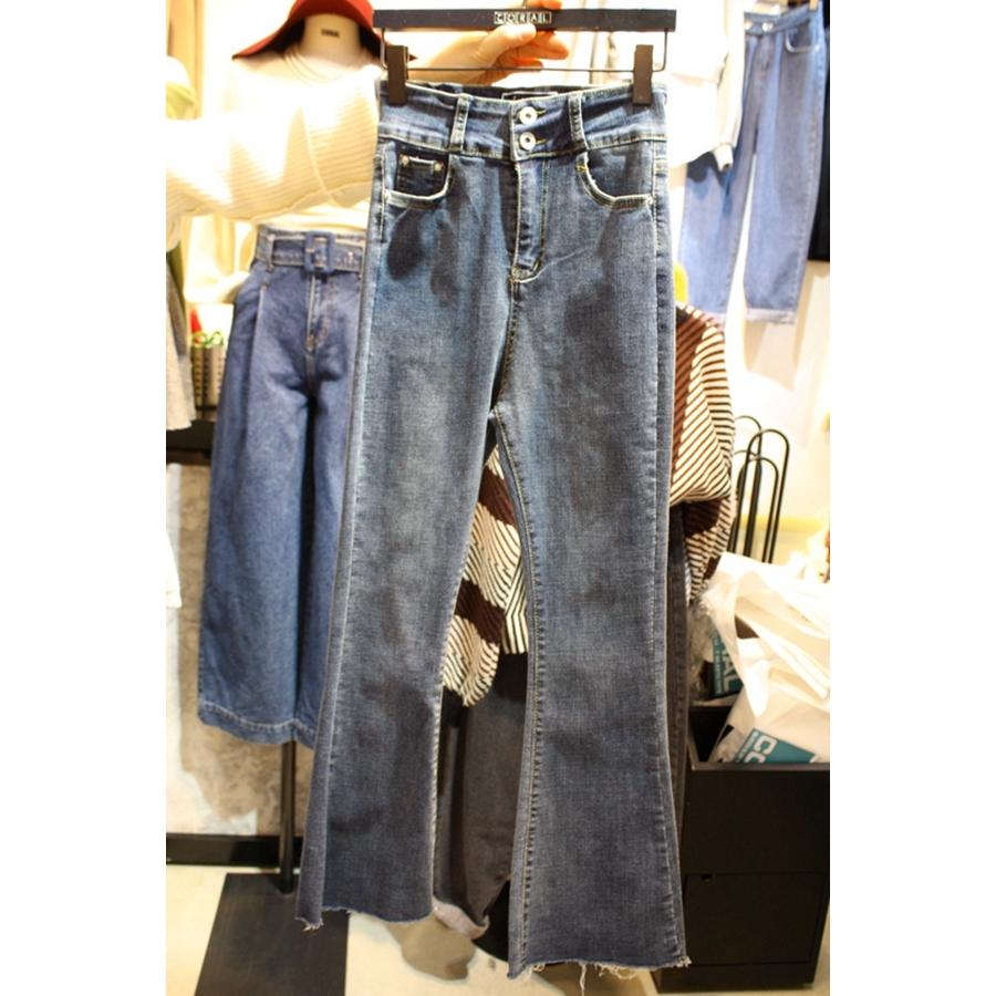 CORAL-S 韩国东大门正品代购女装塑形插袋系扣气质牛仔裤S/M码