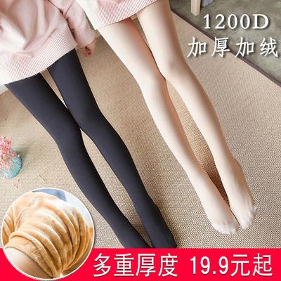 春秋冬季连裤袜加厚加绒丝袜光腿肤色肉色美腿袜女打底袜保暖裤子