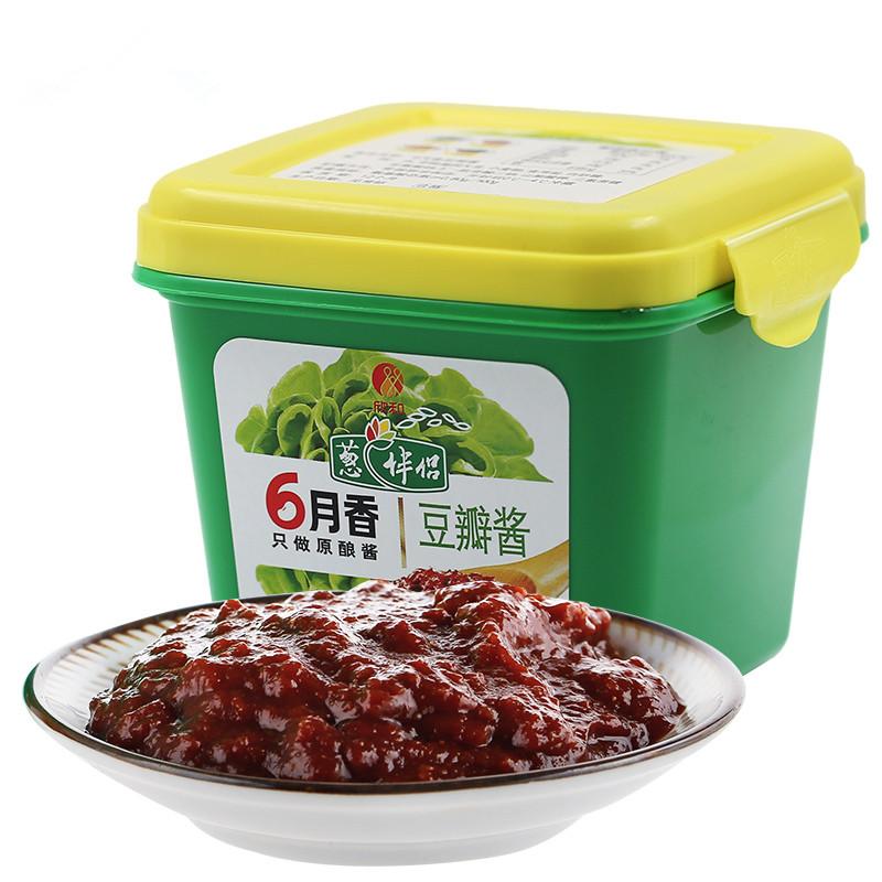 欣和葱伴侣六月香豆瓣酱300g东北大酱蘸酱黄豆酱自制炸酱面拌面酱