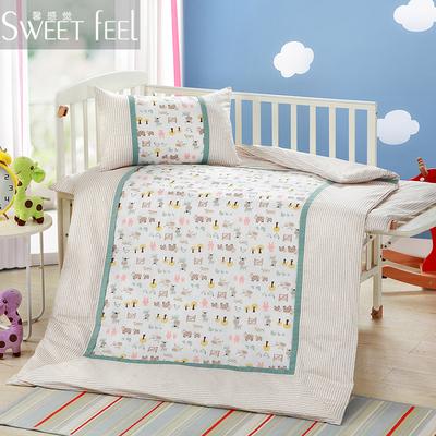 全棉儿童夏被幼儿园被子纯棉空调被小夹棉被套婴儿卡通宝宝四季被