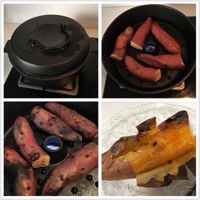 铸铁烤红薯锅烤地瓜锅家用烧烤炉加厚烤玉米土豆神器22cm26cm28cm