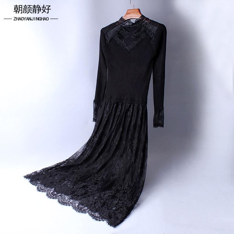 高领裙子秋冬连衣裙