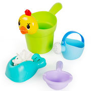 Children's bath toys baby baby play set small yellow duck shower boys and girls 1-2-3 years old vibrato