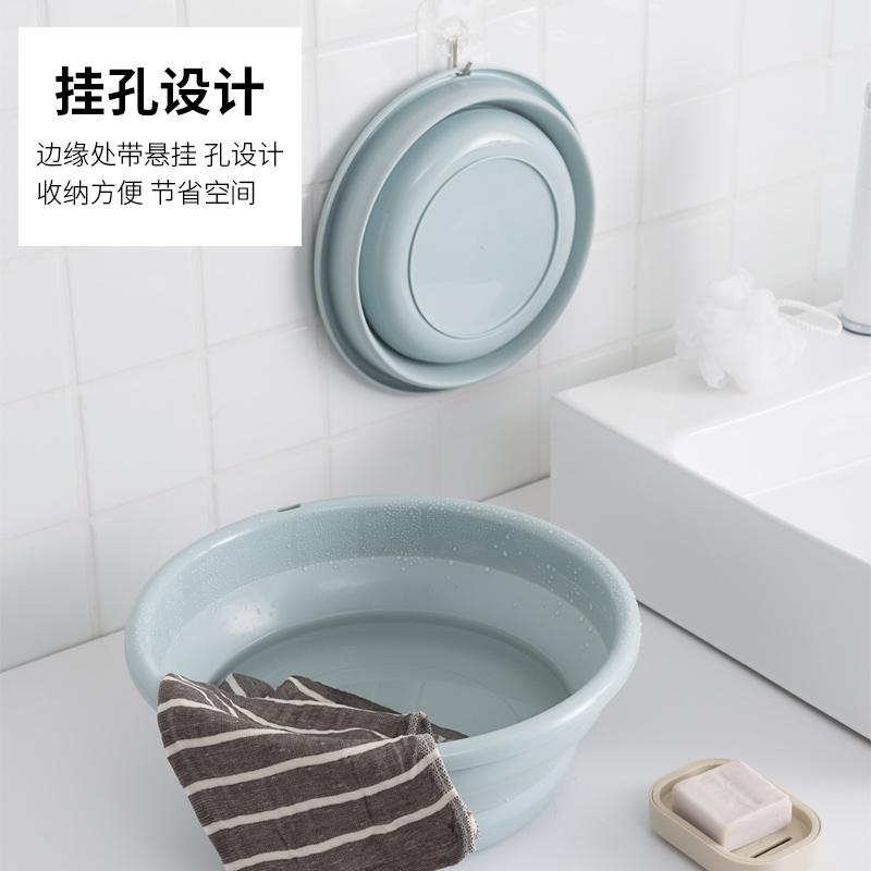 可折叠脸盆家用塑料洗脸小号大小洗衣盆子便携式旅行大号洗澡洗脚