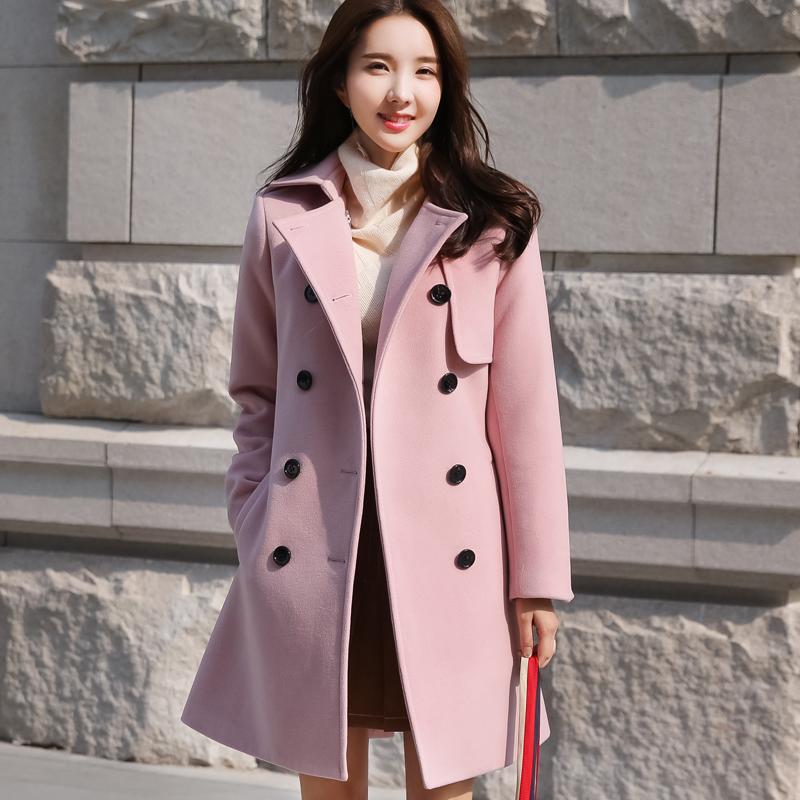 韩国甜美呢大衣