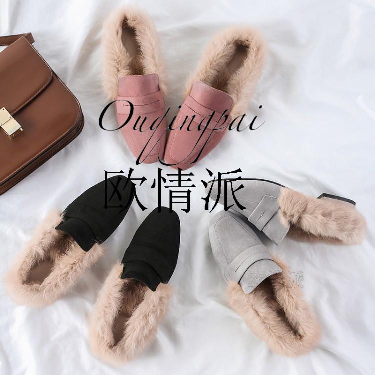 方头皮鞋棉