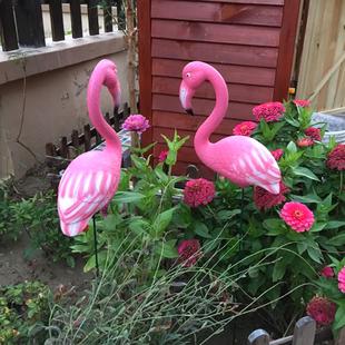 花园装饰 庭院婚礼草坪橱窗装饰道具摆设仿真动物火烈鸟装饰摆件