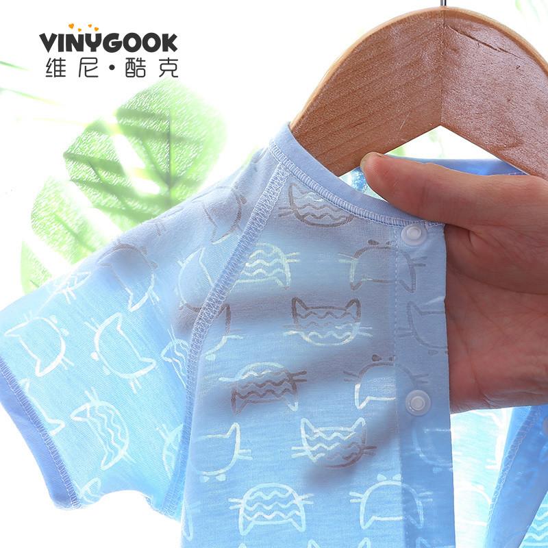 短袖夏天薄款哈衣两件婴儿连体衣男女宝宝